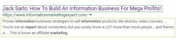 صفحه نتایج جستجوی گوگل یا SERP